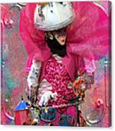 Pink Carnival Costumed Lady Canvas Print