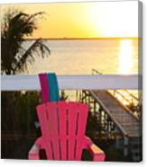 Pink Chair In The Keys Canvas Print