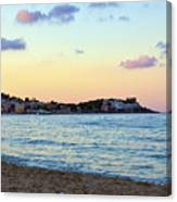 Pink Clouds Over Sicily Canvas Print