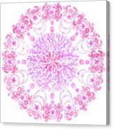 Pink Crab Mandala Canvas Print