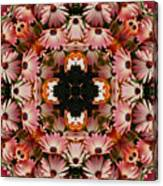 Pink Daisies Kaleidoscope Canvas Print