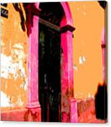 Pink Door 1 By Darian Day Canvas Print