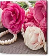 Pink Eustoma Flowers  Canvas Print