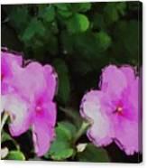 Pink Floral Watercolor Canvas Print