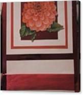 Pink Flower Greeting Card Canvas Print