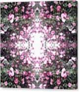 Pink Flower Sky Window Canvas Print