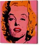 Pink Folded Marilyn Canvas Print