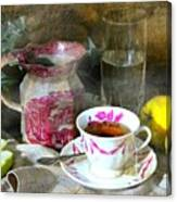 Pink For Tea Canvas Print
