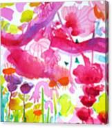 Pink Garden Tree Canvas Print