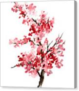 Cherry Blossom, Pink Gifts For Her, Sakura Giclee Fine Art Print, Flower Watercolor Painting Canvas Print