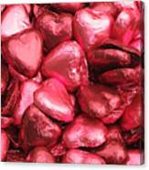 Pink Heart Chocolates I Canvas Print
