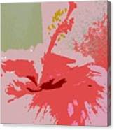 Pink Hibiscus Abstract Canvas Print