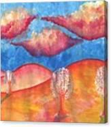 Pink Hills Dream Canvas Print