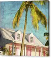 Pink House Palm Canvas Print