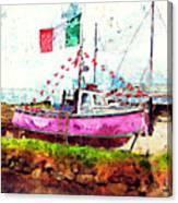 Pink Irish Boat Canvas Print