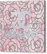 Pink Marble Chanel Canvas Print