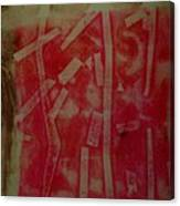 Pink Monotype Canvas Print