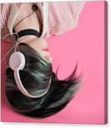Pink Music Time Canvas Print