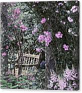 Pink Muted Garden Respite Canvas Print