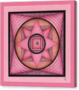 Pink Om Thing Canvas Print