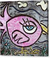 Pink Parrot Canvas Print