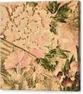 Pink Peonies - Kimono Series Canvas Print