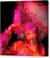 Pink Pixelated Princess Canvas Print