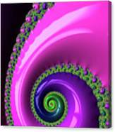 Pink Purple And Green Fractal Spiral Canvas Print
