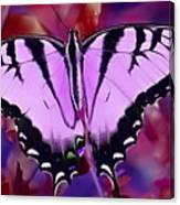 Pink Purple Butterfly Canvas Print