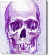 Pink Purple Skull Canvas Print