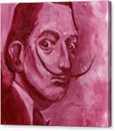 Pink Rhinoceros  Canvas Print
