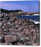 Pink Rock Shoreline Canvas Print