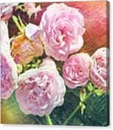 Pink Rose Artwork Canvas Print