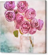 Pink Roses Beauty Canvas Print