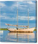 Pink Sailboat 3 Canvas Print
