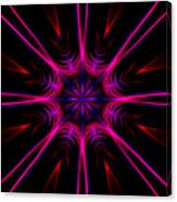 Pink Starburst Fractal  Canvas Print