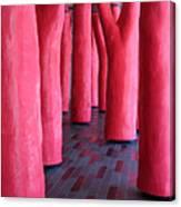 Pink Trees Palais Des Congres Montreal City Canvas Print