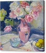 Pink Vase Canvas Print