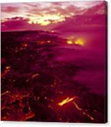 Pink Volcano Sunrise Canvas Print