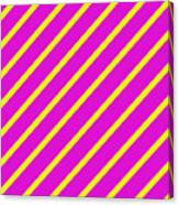 Pink Yellow Angled Stripes Canvas Print