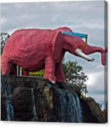 Pinky The Elephant At Cape Canaveral Canvas Print