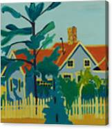 Pinkys House On Pemaquid Point Canvas Print