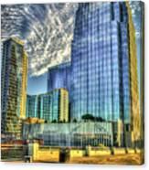 Pinnacle Building Sunset Nashville Shadows Nashville Tennessee Art Canvas Print