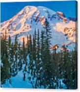 Pinnacle Saddle Winter Canvas Print