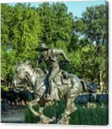 Pioneer Plaza Cattle Drive Monument Dallas Canvas Print
