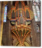Pipe Organ In Strasbourg Cathedral Canvas Print