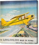 Piper Airplane  Canvas Print