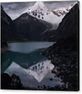 Piramide Reflecting In Lake Paron, Cordillera Blanca, Peru Canvas Print