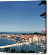 Piran Slovenia Gulf Of Trieste On The Adriatic Sea From The Punt Canvas Print