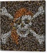 Pirate Coins Mosaic Canvas Print